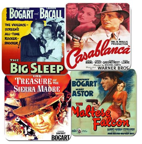 Humphrey Bogart Movie Film Poster Coasters Set Of 4 High Quality Cork Casablanca